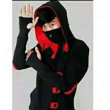 Ninja Jaket Sweater Hoodie Assasin Hitam Merah Zipper Premium L Xl Hitam L