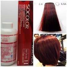 Matrix Socolor 5.6 5R Light Red Brown Hair Dye Cat Rambut Merah Maroon So Color Ariana Grande (5.6(Light Red Brown))