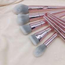 Wet n Wild Pink Mall-Set Kuas Makeup 10Pcs Set /Travel Make Up Brush/Populer/ Wet N Wild Pro Brush Line