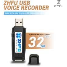 SPY Zhfu Usb Voice Recorder Memory Card Rechargeable Alat Rekam Suara