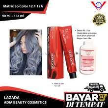 Matrix Cat Rambut Socolor 12.1 Light Cool Blonde 90ml + oxydant 135ml best seller / cat rambut abu abu grey / pewarna rambut yang bagus / semir rambut abu abu / pewarna rambut permanen / chat rambut / cat rambut korea / semir rambut / warna rambut (9%, 225)