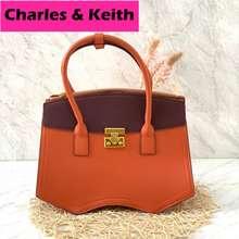 Charles & Keith Tas Top Handle Bag Wanita Import, Tas Shoulder Bag N Top Handle Original / Cnk