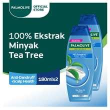 Palmolive Naturals Anti-Dandruff Shampo & Conditioner Perawatan Rambut Anti Ketombe 180 ml x 2