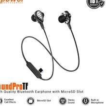 D-Power Hot Sell - Dpower Soundprotf Bluetooth Earphone Dual Driver With Slot Memory Card