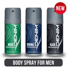 Denim Deodorant Body Spay For Man - 150Ml   Body Spray Pria Man Cowok Original