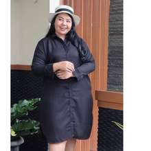 Blus Jumbo Nusantara Baju Atasan Tunik kemeja Blouse wanita dress Jumbo Polos ld 110 - 120 cm big size katun ukuran besar xxxl 3xl 4l 2 3 4 xl l busui ibu hami bumil modern terbaru 2021 ihtunik120 ihbunda