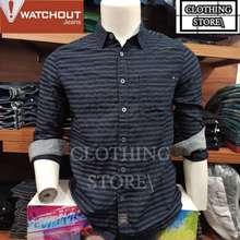 Watchout Jeans Original Kemeja Flanel Lengan Panjang Pria