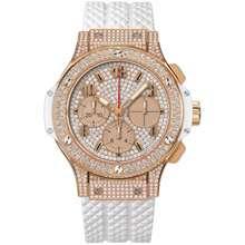 Hublot Big Bang White Diamond Dial Automatic 18 Carat Rose Gold Ladies Watch 341.PE.9010.RW.1704