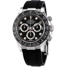 Rolex Cosmograph Daytona Black Diamond Dial Mens Chronograph Oysterflex Watch 116519BKDR