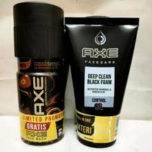 Axe DARK DEODORANT BODY SPRAY 150 ML (FREE) FACIAL FOAM DEEP CLEAN BLACK 100 GRAM