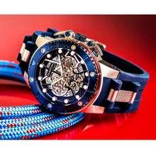 Quantum Jam Tangan Pria Hng535.999 Blue Rosegold Original Bergaransi