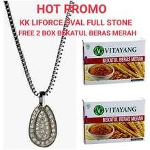 KK Indonesia HOT PROMO KK LIFORCE OVAL FULL STONE FREE 2 BOX BEKATUL BERAS MERAH