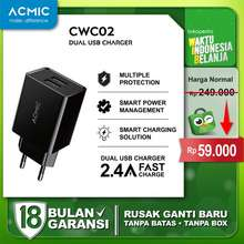 Acmic Cwc02 Dual Usb Wall Charger Adaptor Fast Charging 2 4A Cwc02 Only