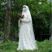 Hijab Alila Set Akad Ruqayyah Baju Pengantin Bruklat Syari