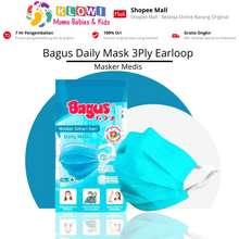 Bagus Daily Mask 3Ply Earloop / Masker / 10Pcs