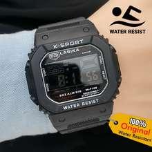 Lasika Anti Air Jam Tangan Pria Digital Original WF109 by hargajam cowok ori water resist proof model gshokc