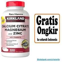Kirkland Signature Kalsium Calcium Citrate Magnesium Zinc Vitamin Vit D3 D D-3