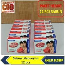 Unilever PAKET HEMAT SABUN LIFEBUOY 60 GRAM / SABUN BATANG / SABUN MANDI / LIFEBUOY 12 PCS - AMELIA OLSHOP