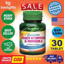 Pure Kids NUTRIMAX COMPLETE MULTIVITAMINS MINERALS MULTIVITAMIN MULTI VITAMIN VITAMINS MINERAL ANTIOKSIDAN STRESS STAMINA 30 TABLET
