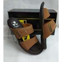 pakalolo Sandal kulit pakalolo boots N2353 tan sendal casual pria original