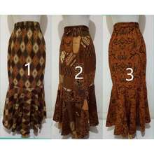 Miracle Rok Ruffle Adima Rok Duyung Bawahan Batik Wanita All Size (Int: One size, Brown)