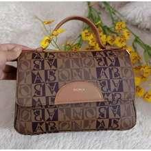 Bonia Tas Wanita Original Monogram Handbag Sling Gradasi