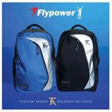 "Flypower ""new""""tas ransel tas badminton Rio Gold backpack ORI 100%"""