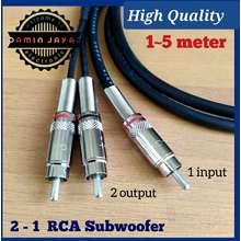 RCA Kabel Sub Woofer Male To Male 2 Ke 1 3 Meter